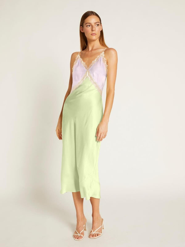 Ginia Sadie Dress Lilac Lime Creme | Perlu