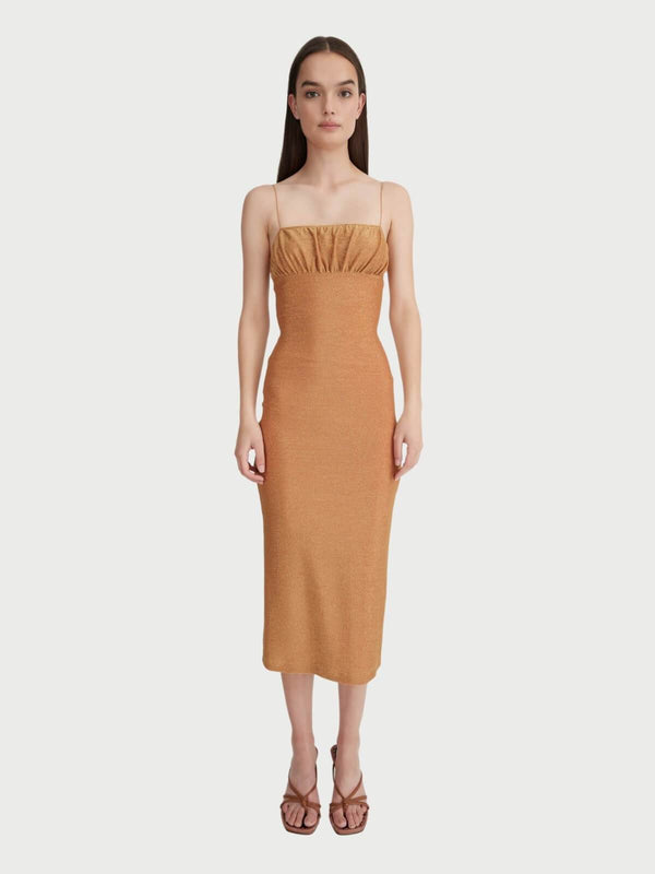 Hansen & Gretel | Anja Dress - Honey Gold | Perlu