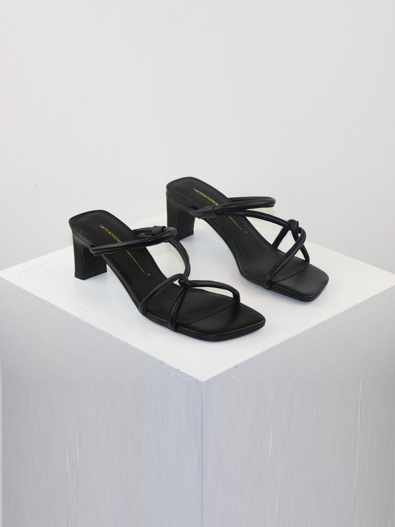 Intentionally Blank Shoes - Willow in Black Leather | Perlu