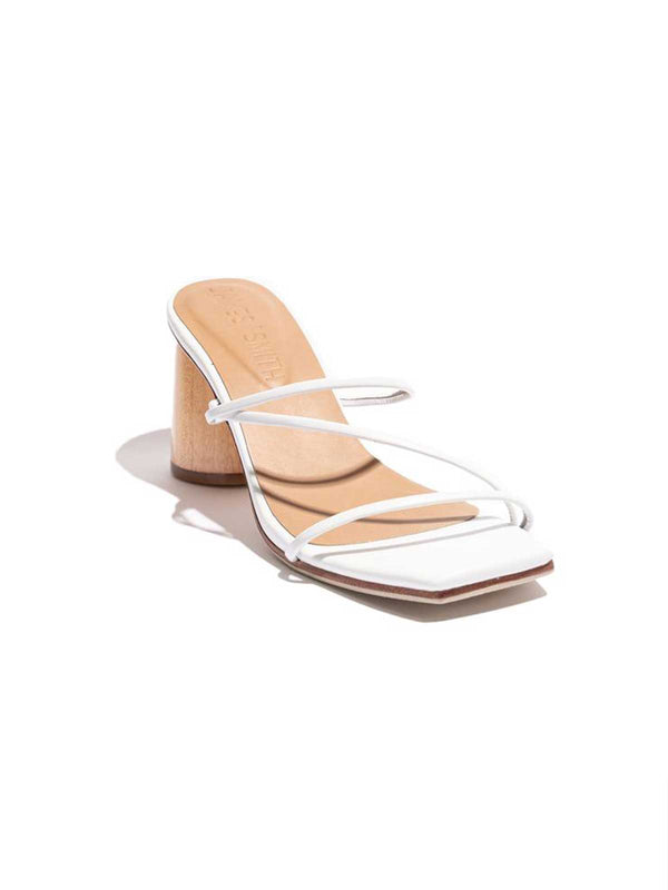 Amore Mio Strappy Sandal - White Shoes James Smith