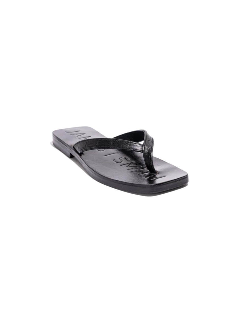Innamorata Slide - Black Croc Shoes James Smith
