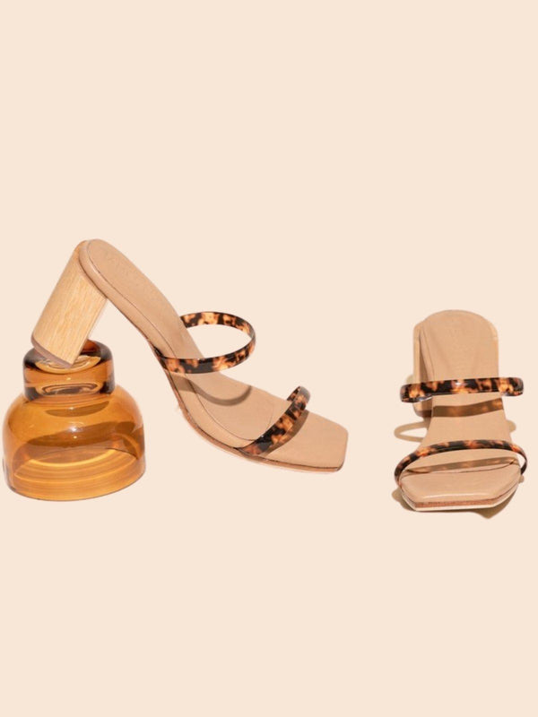 James Smith Sirenuse Strap Sandal Tortoise | Perlu