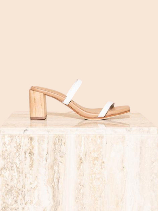 James Smith Sirenuse Strap Sandal White | Perlu