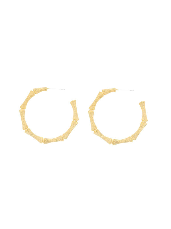 Jolie and Dean | Cane Hoops Gold | Perlu