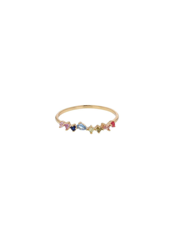 Mabel Multi Coloured Crystal Ring