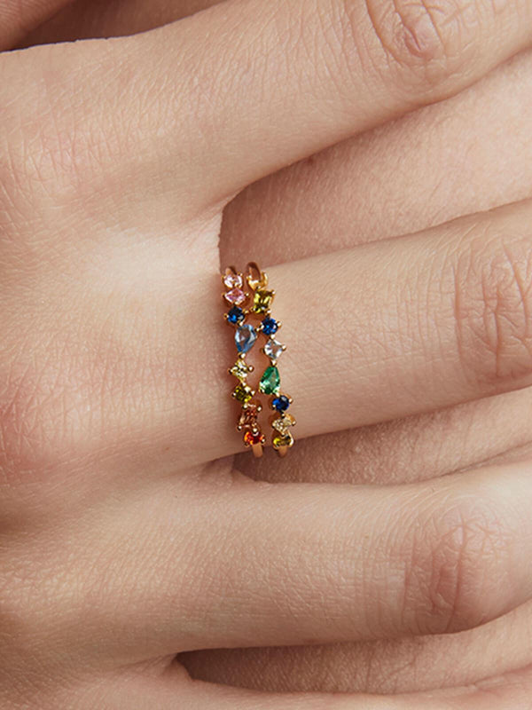 Mabel Multi Crystal Ring