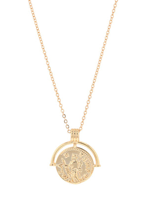 Jolie & Deen | Alex Coin Necklace - Gold | Perlu