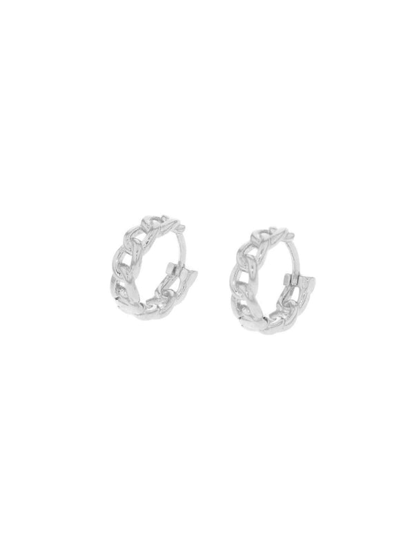 Chain Sleepers Earrings Jolie & Deen Silver