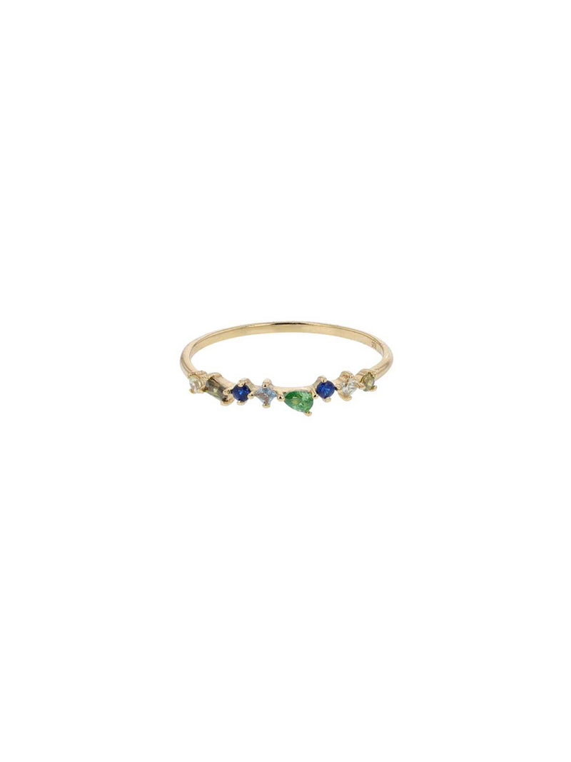 Jolie & Deen | Green Mabel Crystal Ring | Perlu