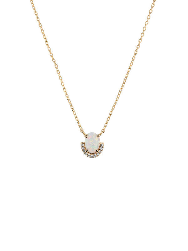 Jolie & Deen | Opal Crystal Necklace | Perlu
