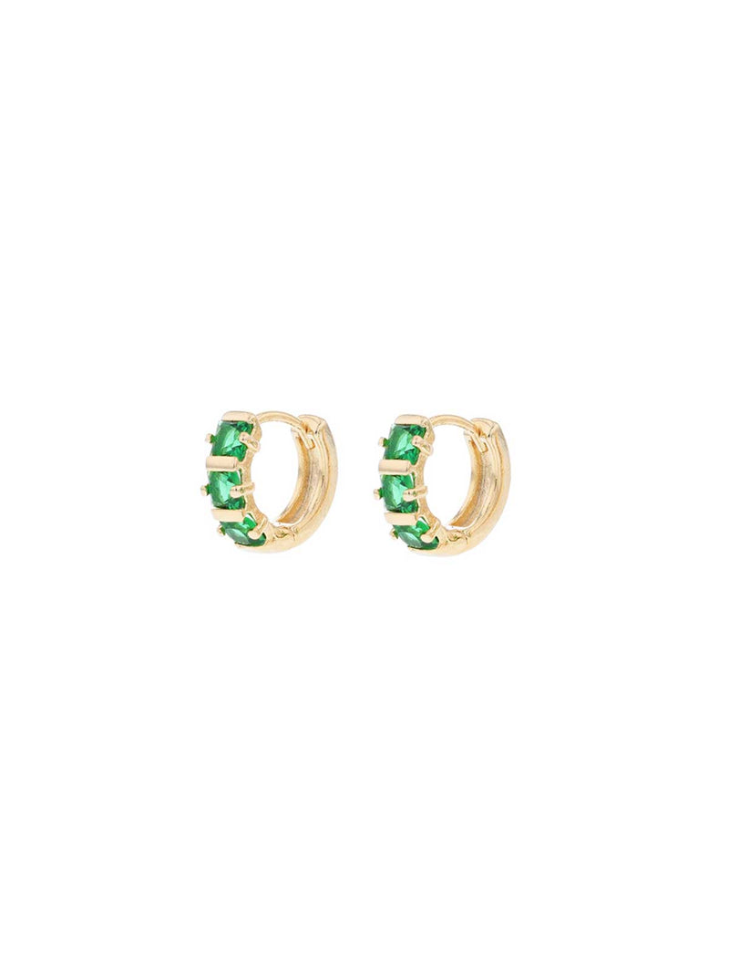 Yvette Sleepers Earrings Jolie & Deen Green