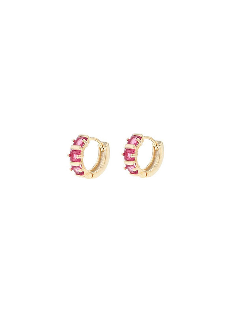 Yvette Sleepers Earrings Jolie & Deen Pink