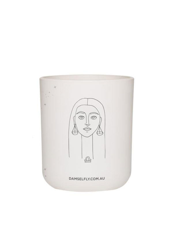 Large Zodiac Candle - Libra Homewares Damselfly