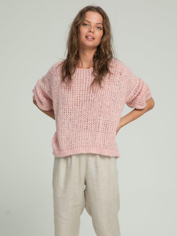 Lilya Lucca Knit Jumper Dusty Pink | Perlu