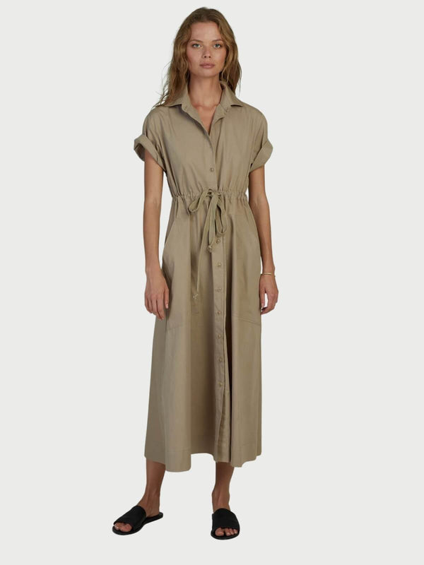 Lilya September Cotton Dress Sand | Perlu