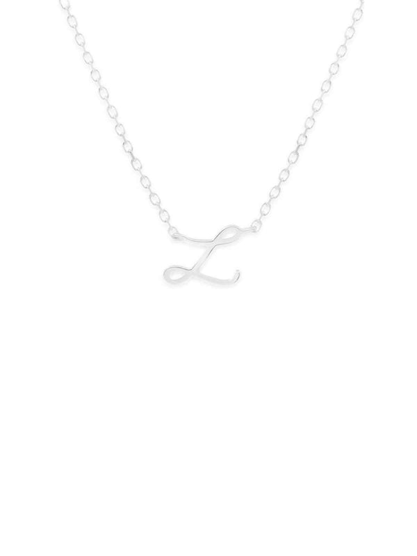 By Charlotte | Love Letter Necklace - Silver | Perlu
