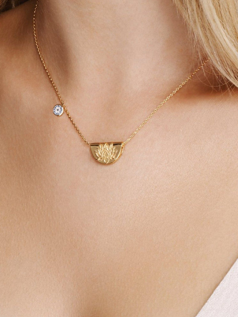 Lucky Lotus Necklace Necklaces By Charlotte