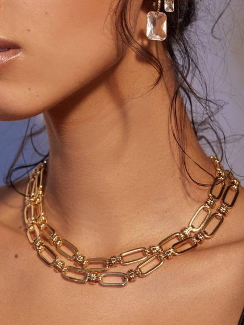 Luv AJ | Isabella Statement Necklace - Gold | Perlu