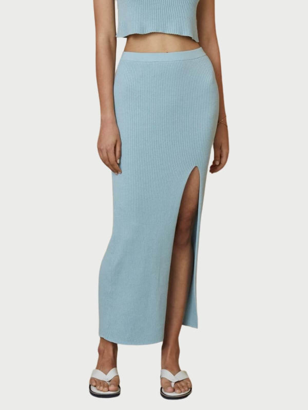Bec + Bridge Margot Knit Midi Skirt Duck Egg | Perlu