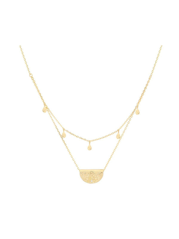 By Charlotte Blessed Lotus Gold Necklace | Perlu