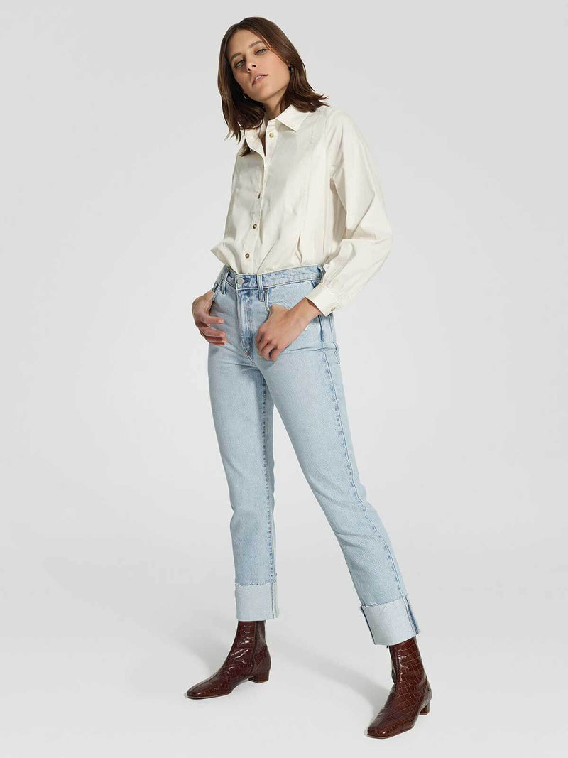 Nobody Denim | Bessette Jean Cuffed - Revived | Perlu