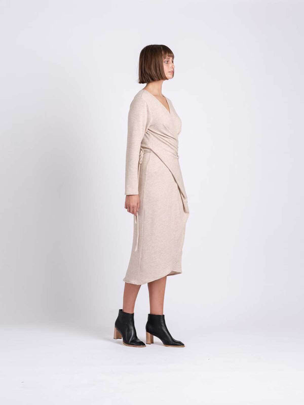 One Fell Swoop Ofs Wrap Dress Sand | Perlu