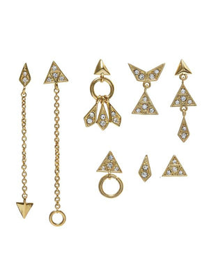 Pave Kite Mixed Earring