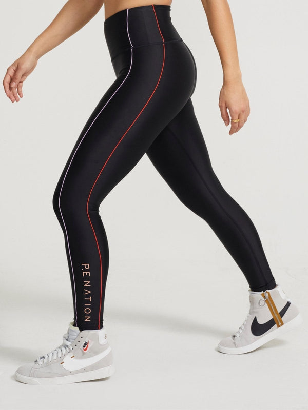 Collision Leggings - Black Activewear P.E Nation