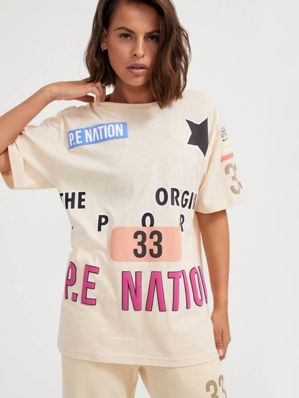 P.E Nation | Eastbrook Tee - Shortbread | Perlu