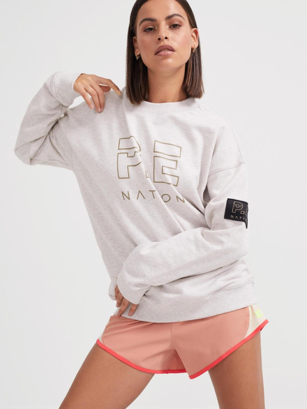 P.E Nation | Heads Up Sweat - Grey Marle | Perlu