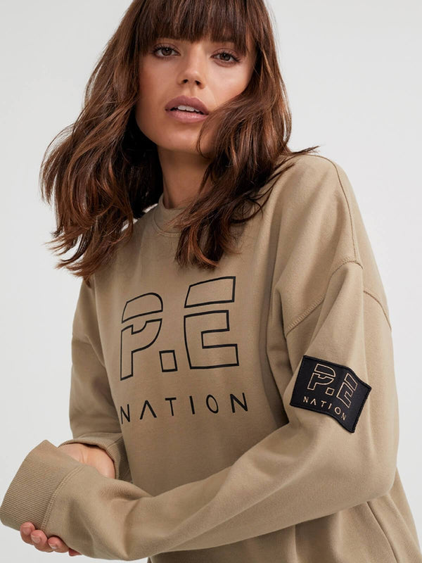 Heads Up Sweat - Olive Gray Jumpers & Cardigans P.E Nation