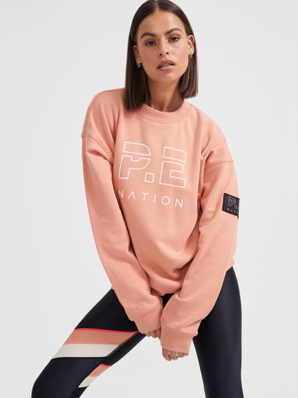 P.E Nation | Heads Up Sweat - Peach Bloom | Perlu