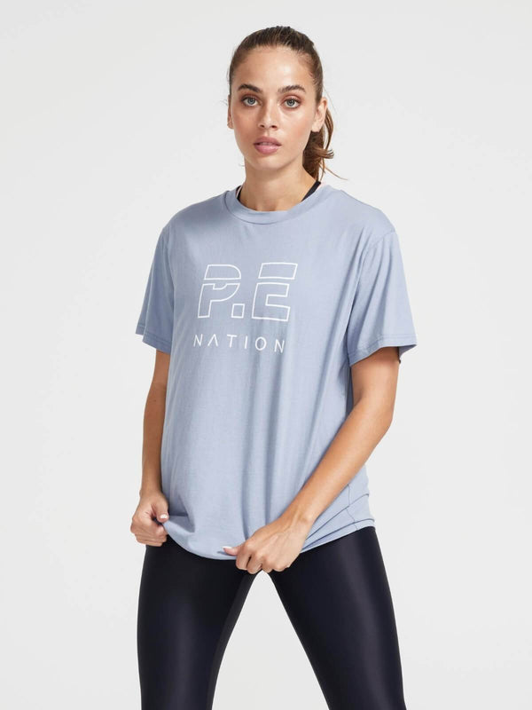 P.E Nation Heads Up Tee Ashley Blue | Perlu