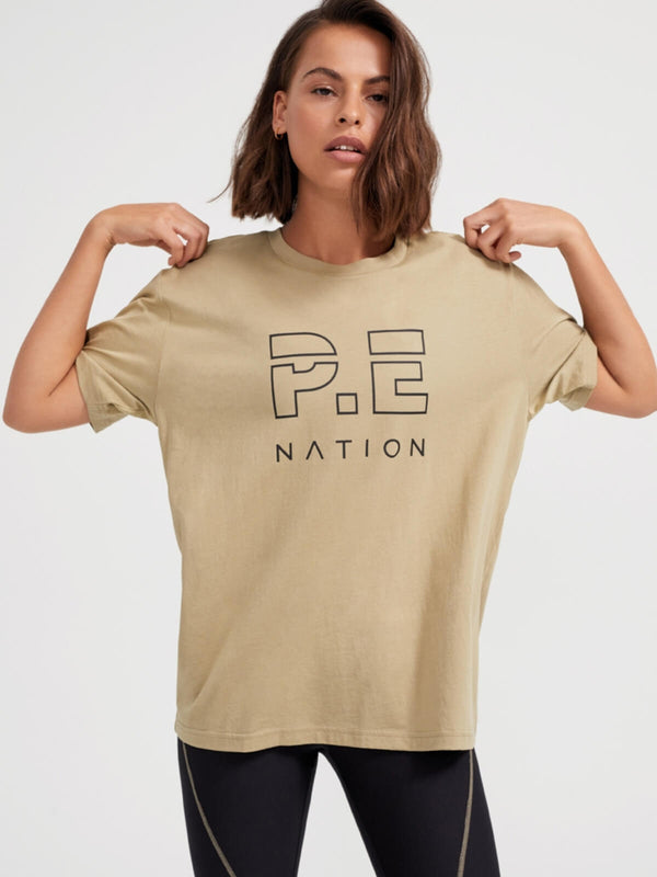 P.E Nation | Heads Up Tee - Olive Gray | Perlu
