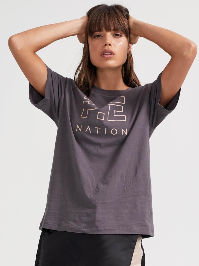 P.E Nation Heads Up Tee Charcoal | Perlu