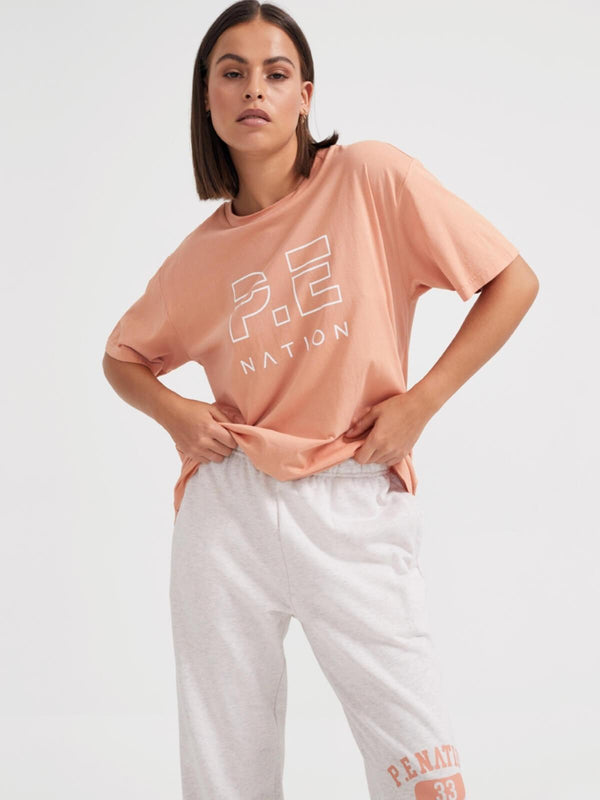 P.E Nation | Heads Up Tee - Peach Bloom | Perlu