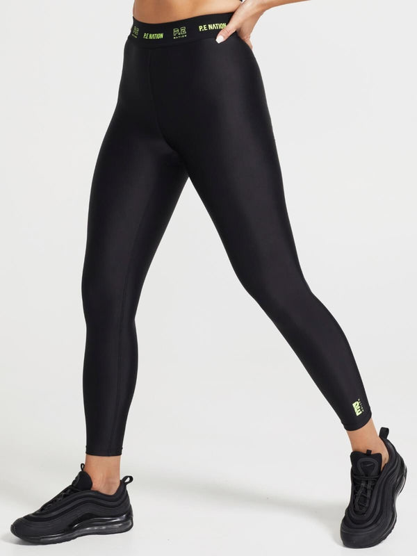P.E Nation Line Point Leggings Black | Perlu