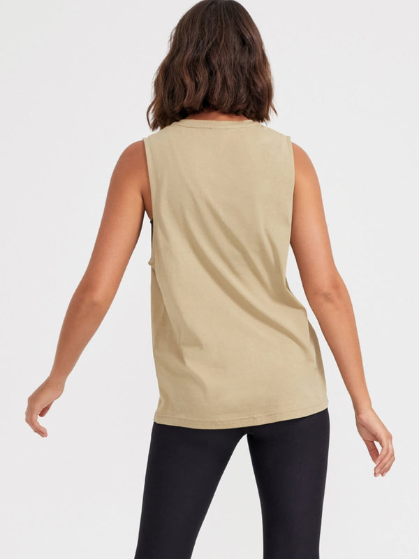 P.E Nation | Twist Serve Tank - Olive Gray | Perlu