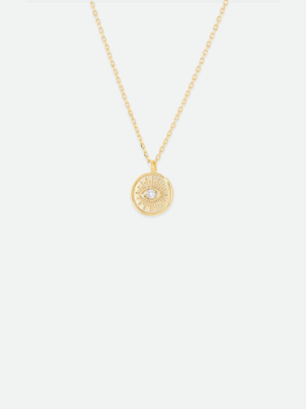 Emilia Eye Necklace - Gold