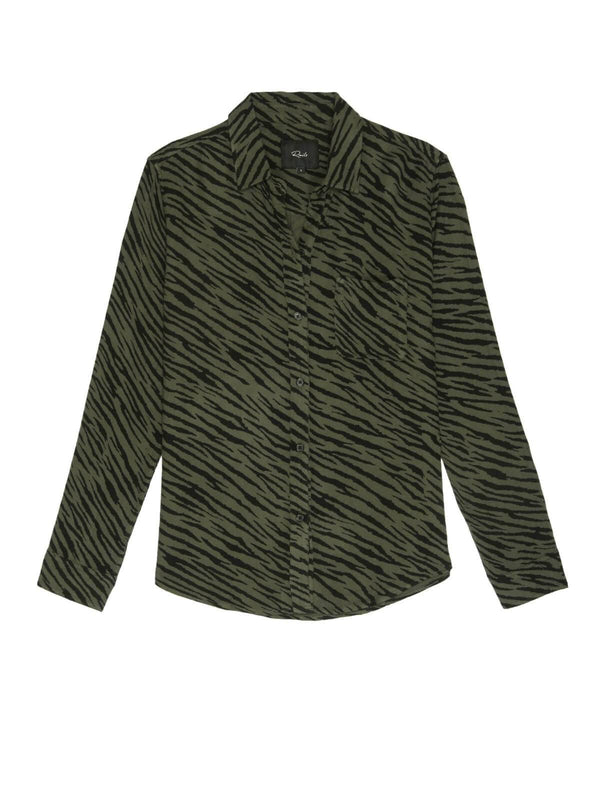 Rails | Hunter - Olive Animal Stripe | Perlu
