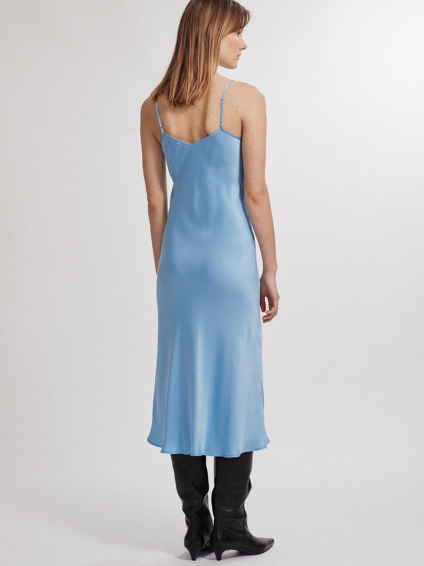 Silk Laundry | 90's Silk Slip Dress - Airy Blue | Perlu