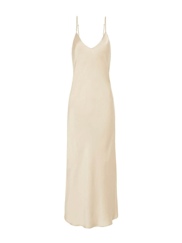 Silk Laundry 90's Silk Slip Dress - Hazelnut | Perlu
