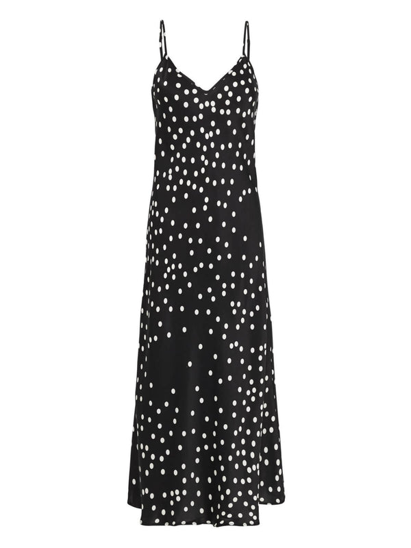 Silk Laundry 90's Silk Slip Dress - Broken Dot | Perlu