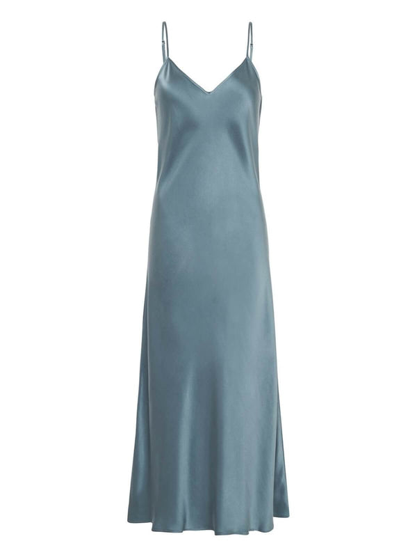 Silk Laundry 90's Slip Dress Shark Grey | Perlu