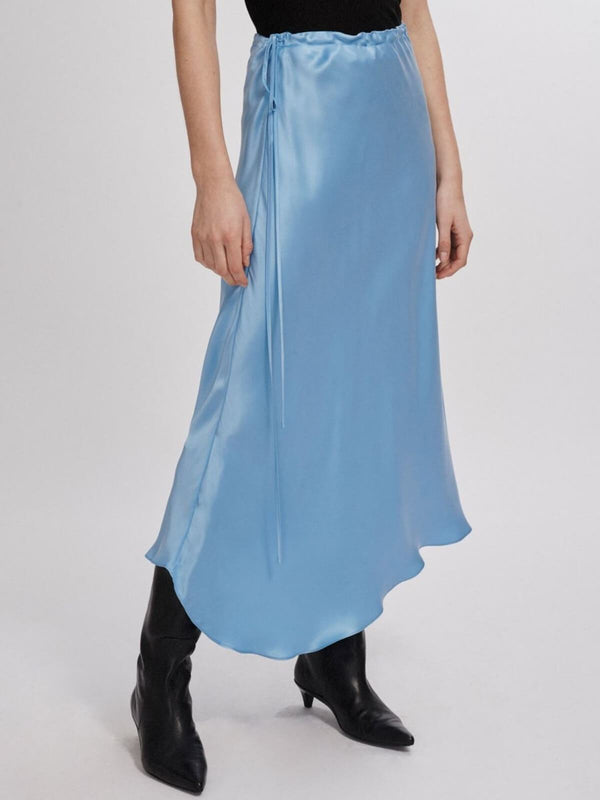 Asymmetric Skirt - Airy Blue Skirts Silk Laundry