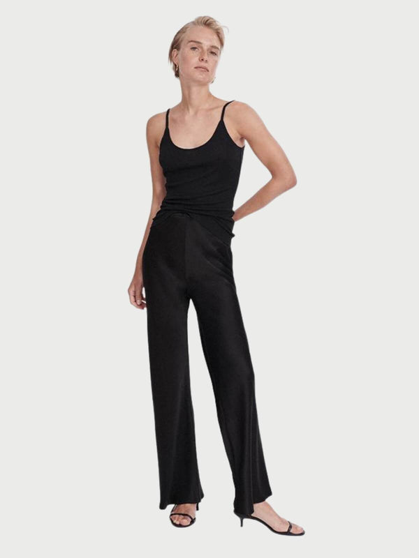 Bias Cut Pant- Black Pants Silk Laundry