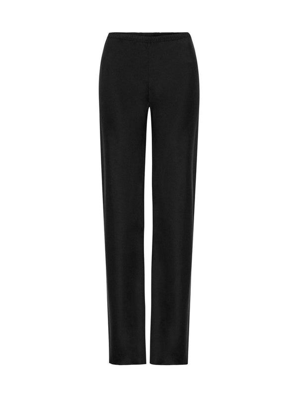 Silk Laundry Bias Cut Pant Black | Perlu