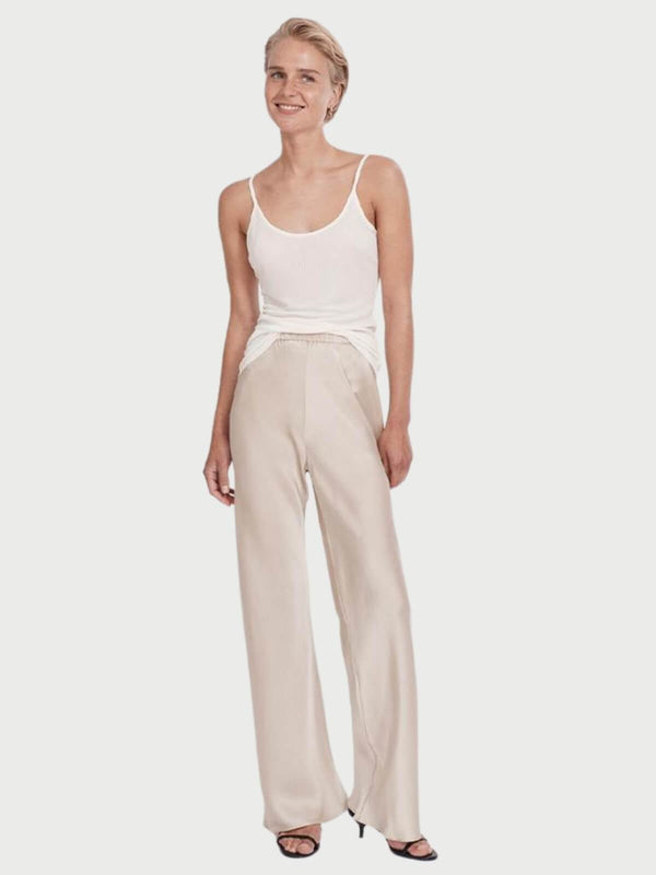 Silk Laundry Bias Cut Pant Hazelnut | Perlu
