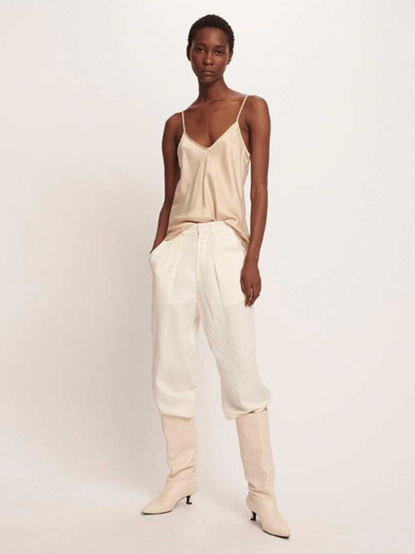 Silk Laundry | Bias Cut Silk Cami - Hazelnut | Perlu
