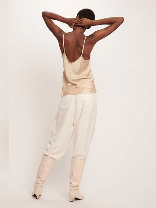 Bias Cut Silk Cami - Hazelnut Tops Silk Laundry